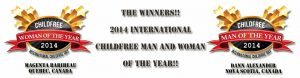 The Winners! 2014 Childfree Woman & Man of the Year