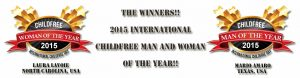 The Winners! 2015 Childfree Man and Woman of the Year